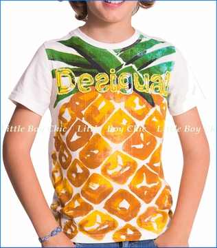 Deisgual, Pineapple Tee in White (c)