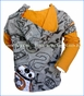 Desigual, Droid Hoodie in Gris Vigore in Grey