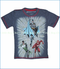 Dx-Xtreme, Justice League Tee in Heather Navy (c)