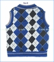 Fore!!, Argyle Sweater Vest in Royal Blue