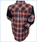 Fore!! , Crimson Plaid Flannel Shirt  in Multicolored