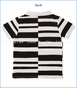 Fore!!, Jail Bird Stripe Polo in White (c)
