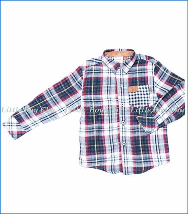 Fore!!, L/S Multi-Plaid Shirt w/ Rolled Cuff
