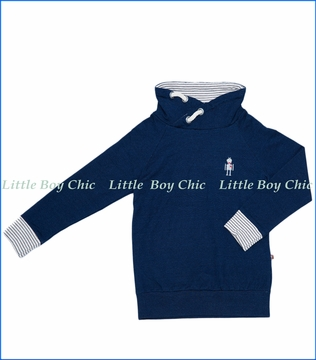 Fore!!, L/S Robot Pullover Hoodie in Navy