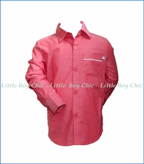 Fore!! , L/S Rolled-Cuff Shirt in Pink