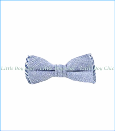 Fore!! , Linen Bow Tie in Blue