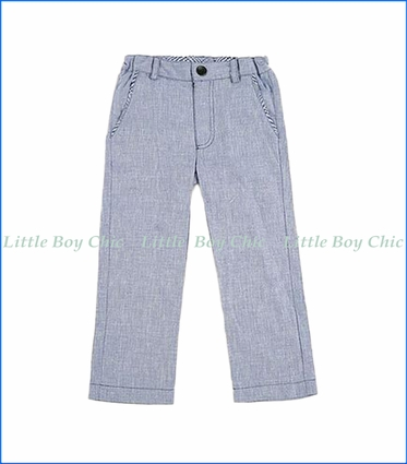 Fore!! , Linen Pants in Blue