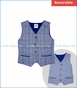 Fore!! , Linen & Plaid Reversible Vest in Blue
