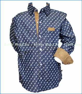 Fore!! , LS Moose Shirt in Blue
