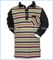 Fore!! , LS Multi-Stripe Knit Polo in Multicolored