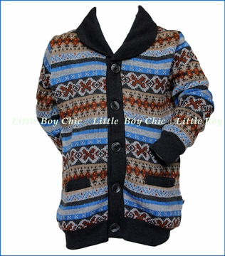 Fore!! , Norwegian Cardigan in Multicolored