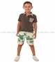 Fore!! , Palm Print Shorts in White