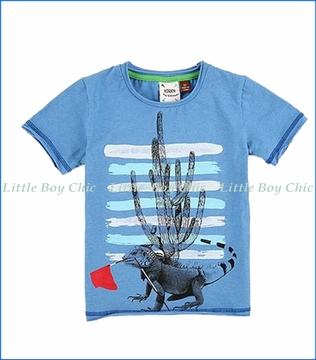 Fore!! , S/S Iguana Cactus T-Shirt in Blue