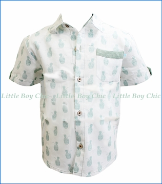 Fore!! , S/S Skulls Print Shirt in Green