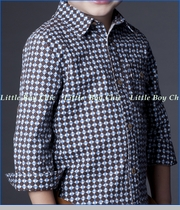 Fore!!, Stars Vintage Buttoned Shirt in Brown (c)