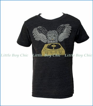 Gnome, DJ Owl T-Shirt in Black