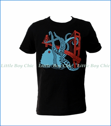 Gnome, SF Octopus T-Shirt in Black