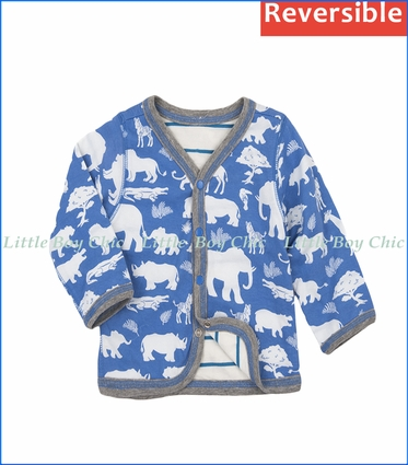 Hatley, Baby's First Safari Cardigan (Reversible) in Blue