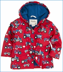 Hatley, Farm Tractors Raincoat in Red
