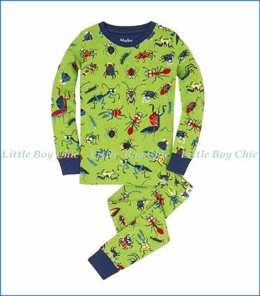 Hatley, L/S Killer Bugs Organic PJ Set in Green
