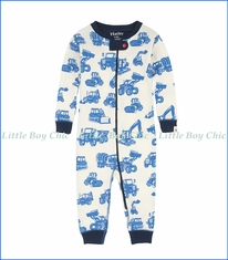 Hatley, L/S Silhouette Diggers Coverall in White