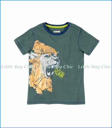 Hatley, Lion Head Graphic T-Shirt in Green
