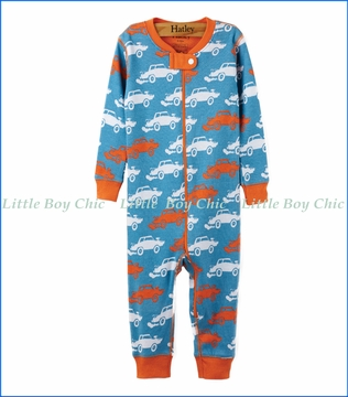 Hatley, Organic Cotton Derby Cars Coveralls
