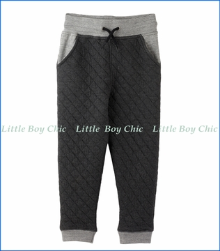 Hatley, Quilted Joggers in Grey