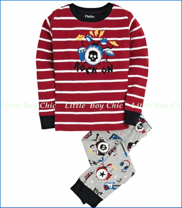 Hatley, Rock Band Pajama in Red