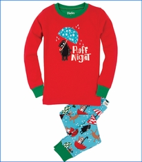 Hatley, Ruff Night Pajama Set in Red