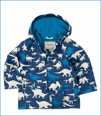 Hatley, Silhouette Dinos Raincoat in Blue