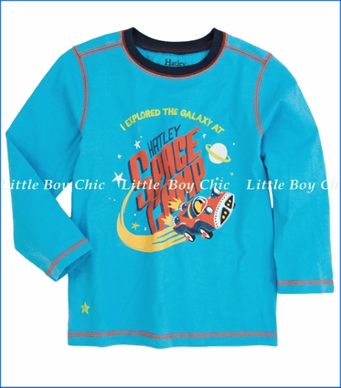 Hatley, Space Cars Tee in Blue