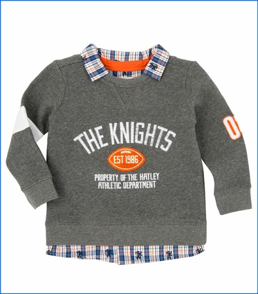 Hatley, The Knights Fooler Sweatshirt in Grey