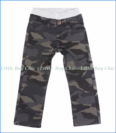 Hoonana, Camo Twill Pants in Navy