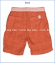 Hoonana, Orange Linen Shorts (c)