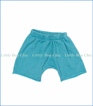 Joah Love, Brenden Stripe Shorts in HarborTurquoise