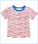 Joah Love, Davis Stripe Tee in Red