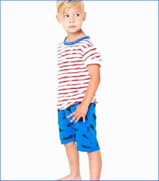 Joah Love, Davis Stripe Tee with Neal Shorts