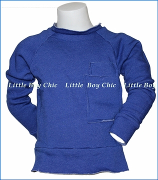Joah Love, Fleece Sweatshirt w/ Pocket in Blue