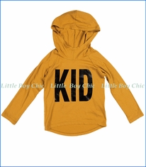 Joah Love, Kid Print Unisex Hoodie in Golden