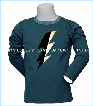 Joah Love, L/S Bolt T-Shirt in Green