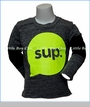 Joah Love, L/S SUP T-Shirt in Grey
