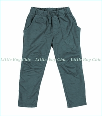 Joah Love, Marble French Terry Moto Pant in Teal