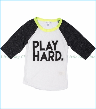 Joah Love, Play Hard Raglan T-Shirt in White