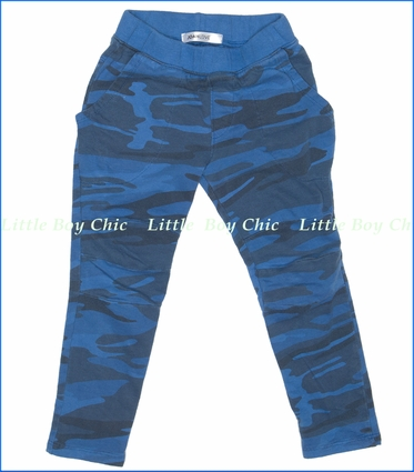 Joah Love, Sid-Camo Pants in Slate Blue (c)