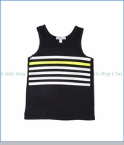Joah Love, Stripe Print Tank Top in Black
