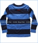 Joules, Applique Stripe Bear Chomp Tee in Blue