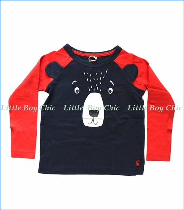 Joules, Bear Ears T-Shirt in Blue