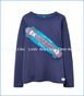 Joules, L/S Good Times Roll Applique Tee in Navy