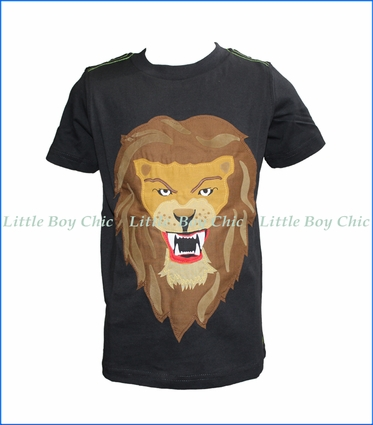 Joules, Lion Applique Jersey T-Shirt in Grey